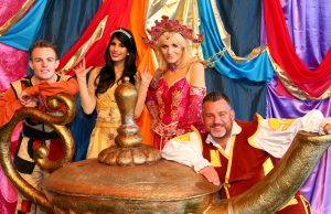 Aylesbury Waterside Theatre presents Aladdin with Michelle Collins, Andy Collins, Jasmin Walia, La Voix and Nicholas Pound